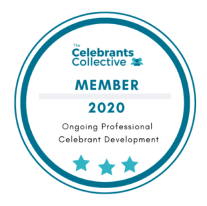 Badge to show membership of the celebrants Collective, a community platform for wedding celebrants